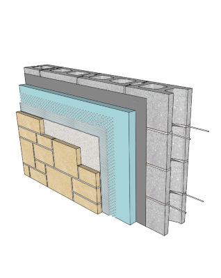 Adhered Stone Masonry Veneer Systems